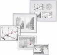 Bilderrahmen Mara 16,1x21,2cm - Silberfarben, Kunststoff (16,1/21,2/1,8cm) - Modern Living