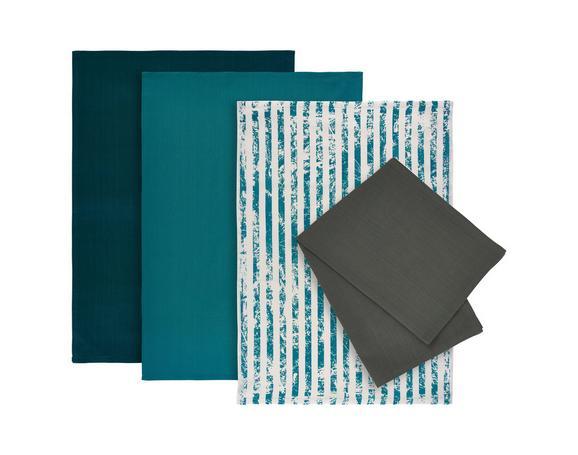 Set Kuhinjskih Krp Lisa -ext- - turkizna, Moderno, tekstil (50/70cm) - Mömax modern living