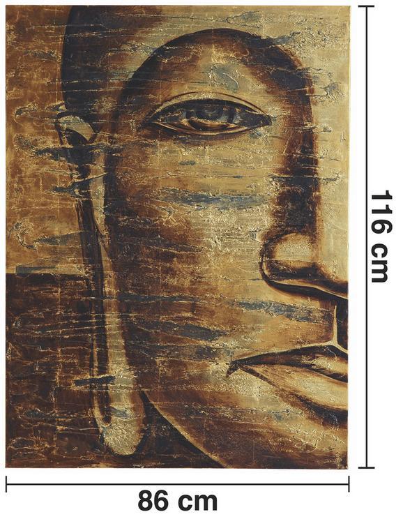 Bild Tibet II ca.86x116cm - Goldfarben, Holz/Textil (86/116cm) - Mömax modern living
