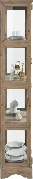 Vitrine Gaia - Blau/Braun, MODERN, Glas/Holz (68/175/33cm) - Mömax modern living