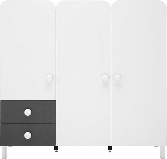 Kommode Grau/Weiß - Alufarben, KONVENTIONELL, Holzwerkstoff/Kunststoff (140/133/41cm) - MODERN LIVING