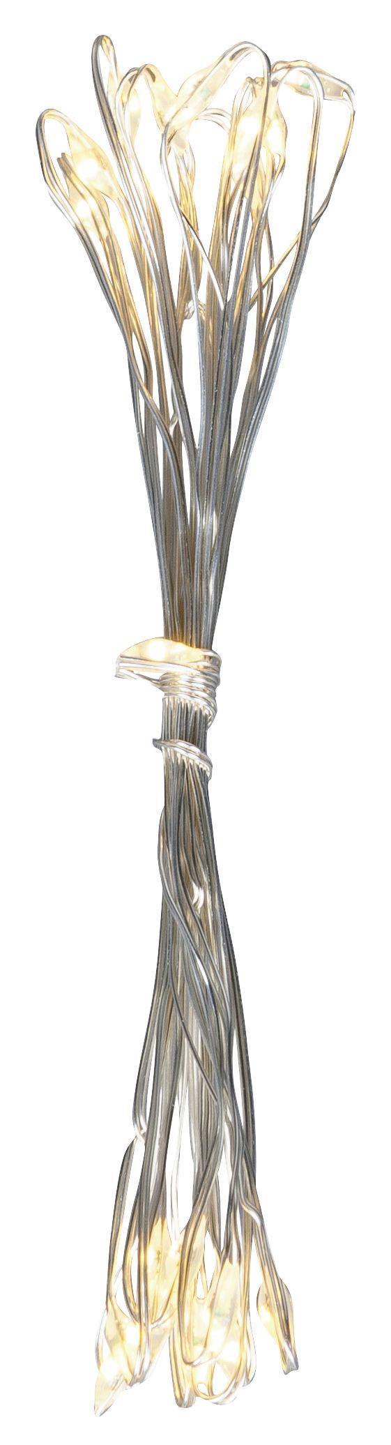 Lichterkette Sterni in Silber - Silberfarben, Kunststoff (95cm) - Mömax modern living