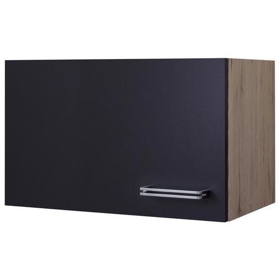 Küchenoberschrank Anthrazit/Eiche - Edelstahlfarben/Eichefarben, MODERN, Holzwerkstoff/Metall (60/32/32cm) - FlexWell.ai