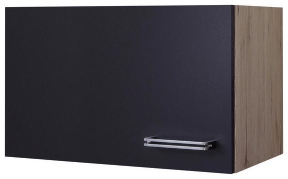 Küchenoberschrank Anthrazit/Eiche - Edelstahlfarben/Eichefarben, MODERN, Holzwerkstoff/Metall (60/32/32cm)