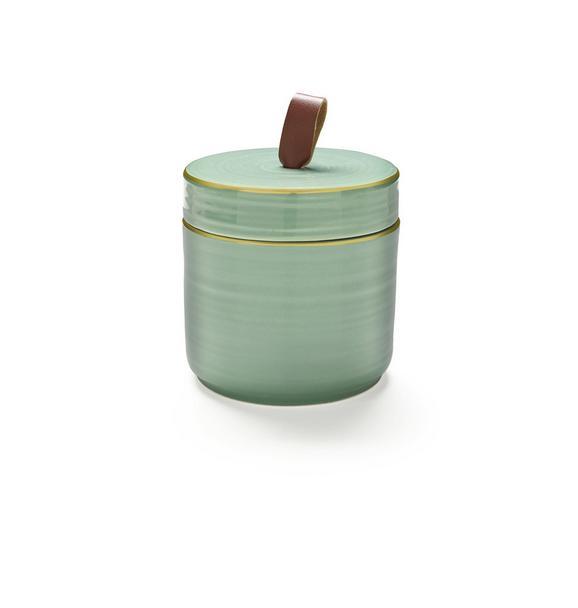 Dekodose Irina Grün/goldfarben - Goldfarben/Grün, Keramik (8/8/7,5cm) - Mömax modern living