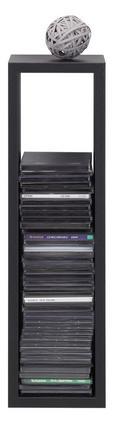 Stenski Regal Regolo -sb- - črna, Moderno, valoviti karton (60/17/15,5cm)