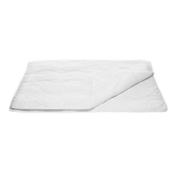 Sommerdecke Zilly, ca. 135-140x200cm - Weiß, Textil (135/200cm) - Based
