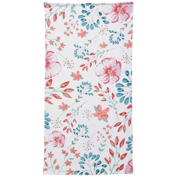 Strandtuch Blossoms Rosa/blau 80x160 cm - Blau/Rosa, Textil (80/160cm) - Mömax modern living