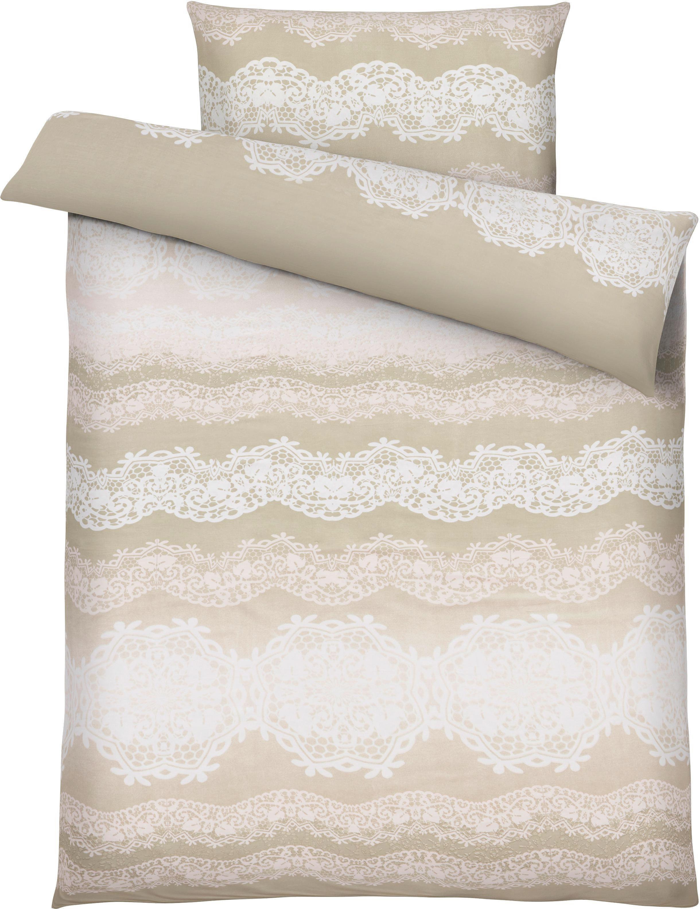 Ágyneműhuzat-garnitúra Eliane - rózsaszín, romantikus/Landhaus, textil (140/200cm) - INSIDO