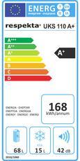 Kühlschrank UKs 110 A+ - Weiß, KONVENTIONELL, Metall (50/82,10/56cm)