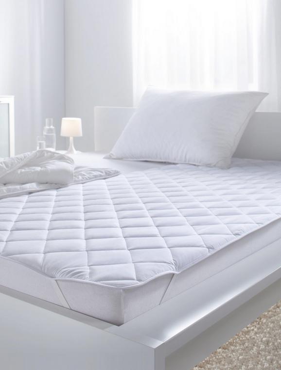 Posteljni Nadvložek Geri - bela, tekstil (95/195cm) - Mömax modern living