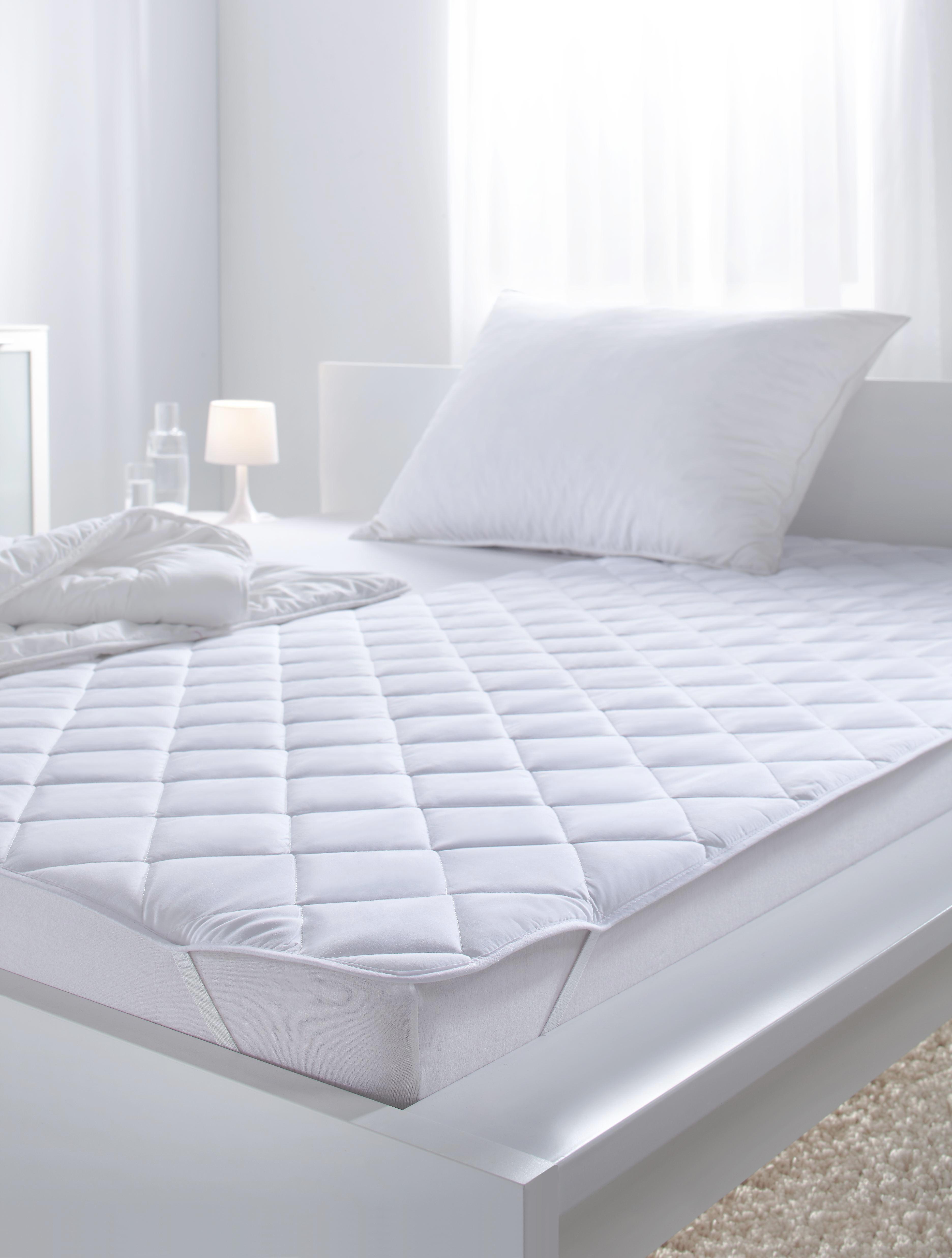 Unterbett in Weiß, ca. 95x195cm - Weiß, Textil (95/195cm) - MÖMAX modern living