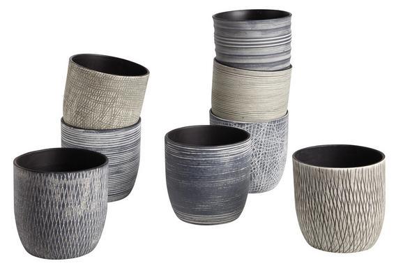 Cvetlični Lonček Susi - siva/svetlo siva, Romantika, keramika (14/13cm) - Mömax modern living