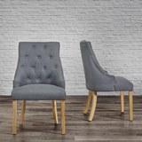 Stuhl Mila - Dunkelgrau, MODERN, Holz/Textil (56,5/93,5/63cm) - Modern Living
