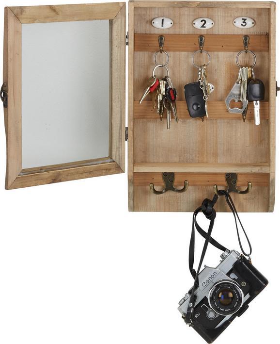 Schlüsselkasten Braun - Braun, Holz/Keramik (26/38/8cm) - Mömax modern living