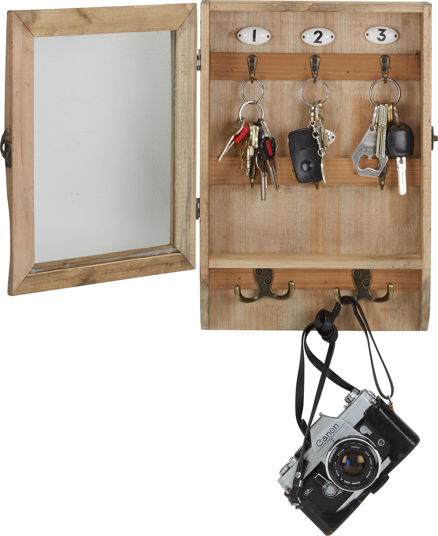Schlüsselkasten in Braun aus Echtholz - Braun, Holz/Keramik (26/38/8cm) - MÖMAX modern living