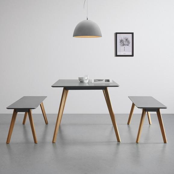 Esstisch in grau ca. 160x90 cm 'Frieda - Buchefarben/Grau, MODERN, Holz/Holzwerkstoff (90/160/76cm) - Bessagi Home