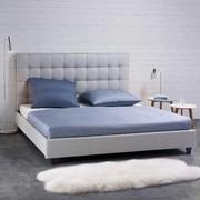 Bett Mike ca.180x200cm - Hellgrau, MODERN, Holz/Textil (218/188/115cm) - Mömax modern living