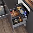 Einbauküche IP3150 - Graphitfarben, MODERN, Holzwerkstoff (255/305cm) - Impuls