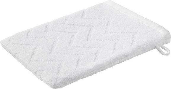 Waschhandschuh Peter in Weiß - Weiß, Textil (16/21cm) - Mömax modern living