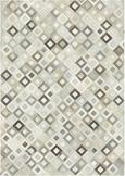 Lederteppich Raffiah 140x200 cm - Grau, Leder (140/200cm) - PREMIUM LIVING