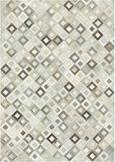 Teppich Raffiah Aus Leder ca. 140x200 cm - Grau, Leder (140/200cm) - Premium Living