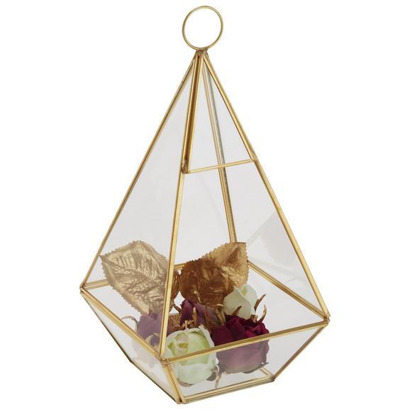 Dekorativna Škatla Adriana - zlata/prozorna, kovina/steklo (12/12/25cm) - Modern Living