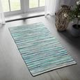 Handwebteppich Verona 2 in Blau - Blau, Basics, Textil (80/150cm) - Modern Living
