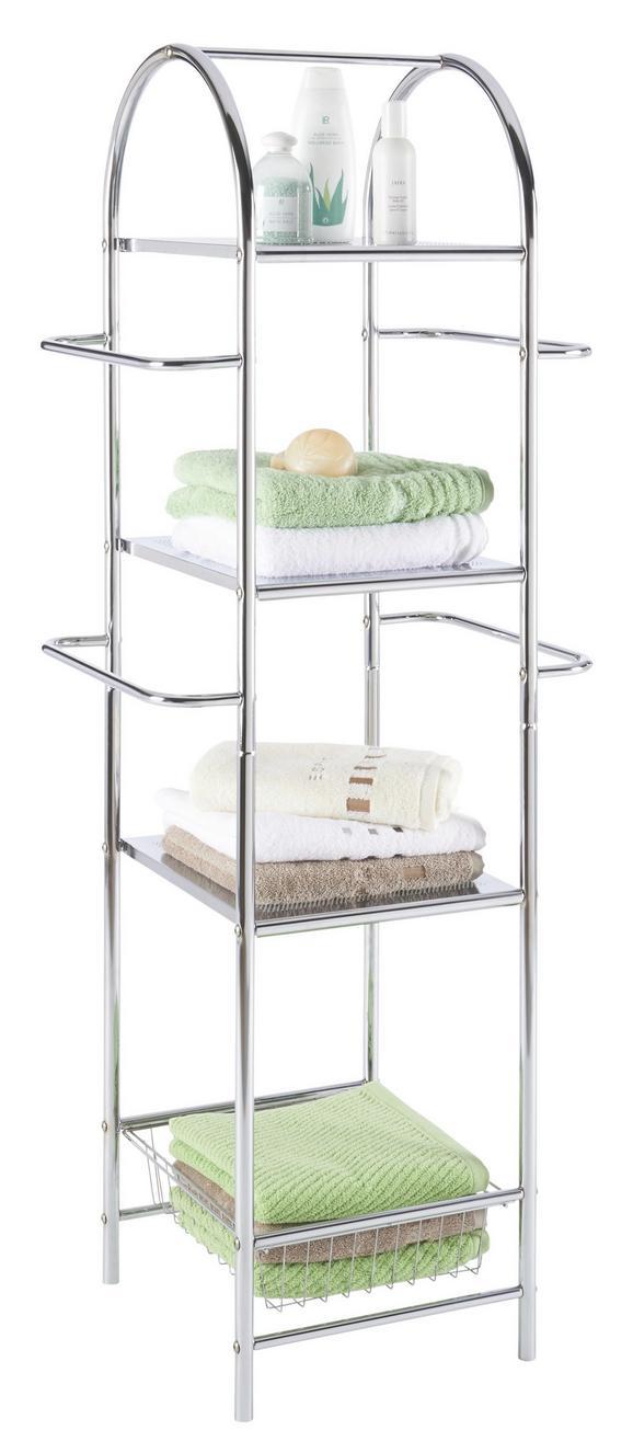 Fürdőszoba Polc Univerzális - krómszínű, modern, fém (54,5/132/36,5cm) - HOMEZONE