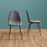 Stuhl Jessica - Grau, MODERN, Textil/Metall (43/95/51cm) - Modern Living