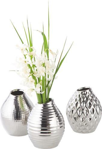 Vase Celly Silberfarben - Silberfarben, MODERN, Keramik (10/13cm) - Mömax modern living