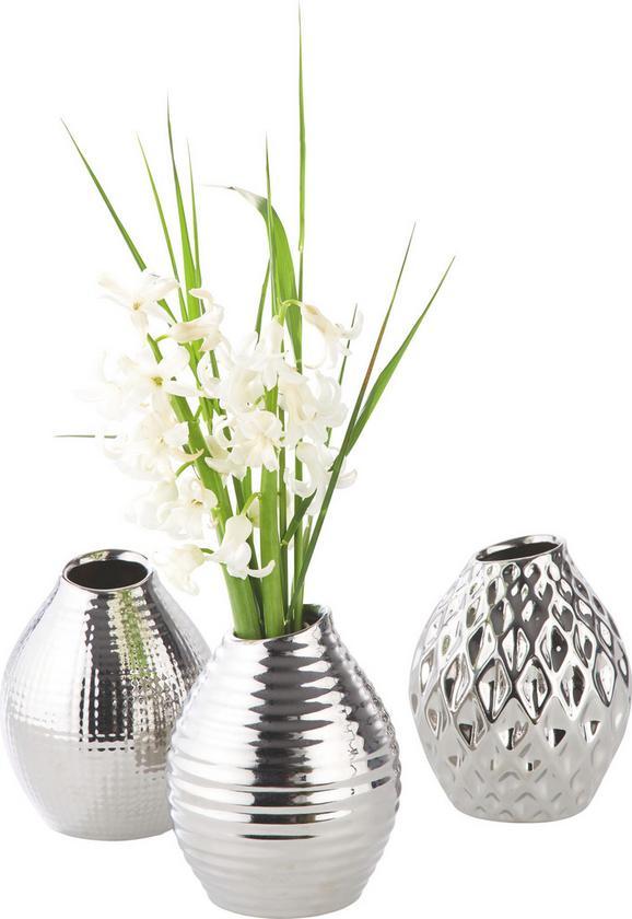 Vaza Celly - srebrna, Moderno, keramika (10/13cm) - Mömax modern living