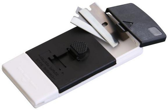 Kochfeldschaber Moritz - Schwarz/Weiß, Kunststoff (10/4,5/1,5cm) - Homeware