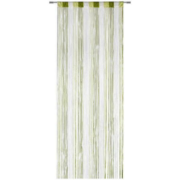 NITASTA ZAVESA String - zelena/bela, tekstil (90/245cm) - Premium Living
