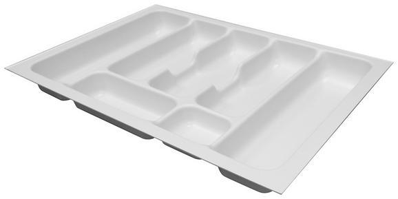 Besteckeinsatz zubehör in Weiß - Weiß, MODERN, Kunststoff (51,8/5/47,3cm)