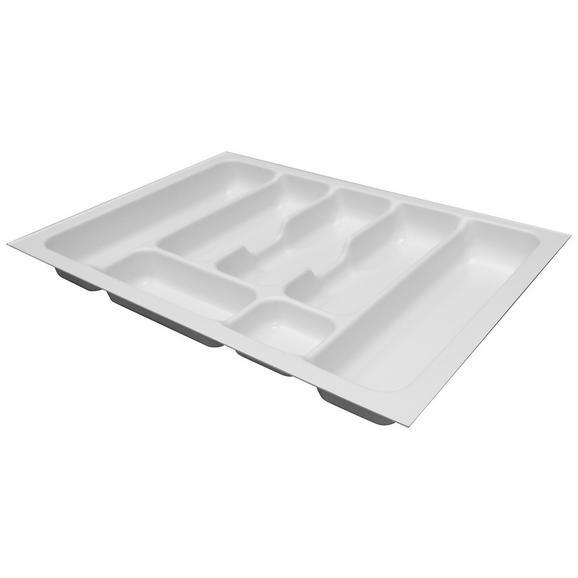 Besteckeinsatz Zubehör / Weiß - Weiß, MODERN, Kunststoff (53,3/5/38,4cm) - FlexWell.ai