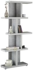 Regal Stefano - aluminij/siva, Moderno, umetna masa/leseni material (90/184/28cm) - Mömax modern living
