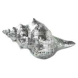 Dekomuschel Yiruma I in Silberfarben - Silberfarben, Basics, Kunststoff (15/8/4cm)