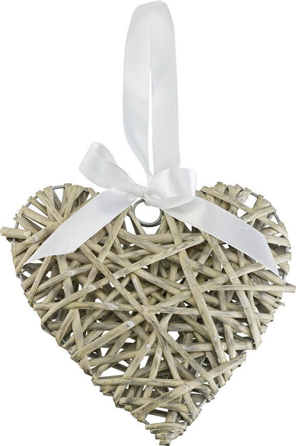 Dekorativni Obesek Melanie - siva, Romantika, tekstil/les (30/5.5cm) - Mömax modern living