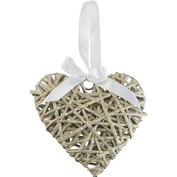 Dekorativni Obesek Melanie - siva, Romantika, tekstil/les (20/3.5cm) - Mömax modern living