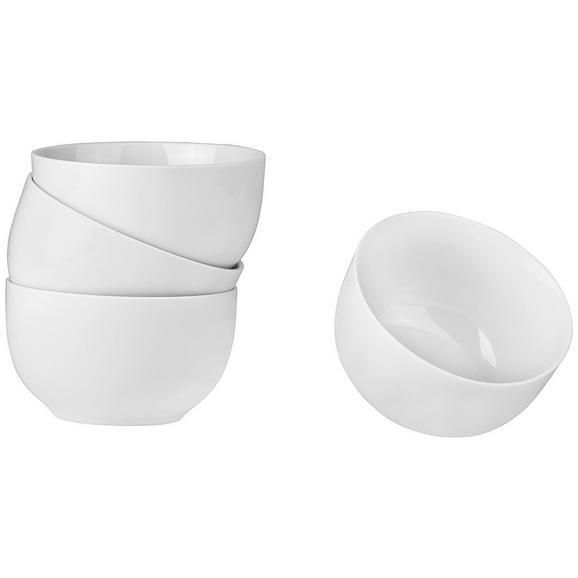 Müslischale Billy aus Porzellan, 4er Pack - Weiß, Design, Keramik (13/7,4cm) - Mömax modern living