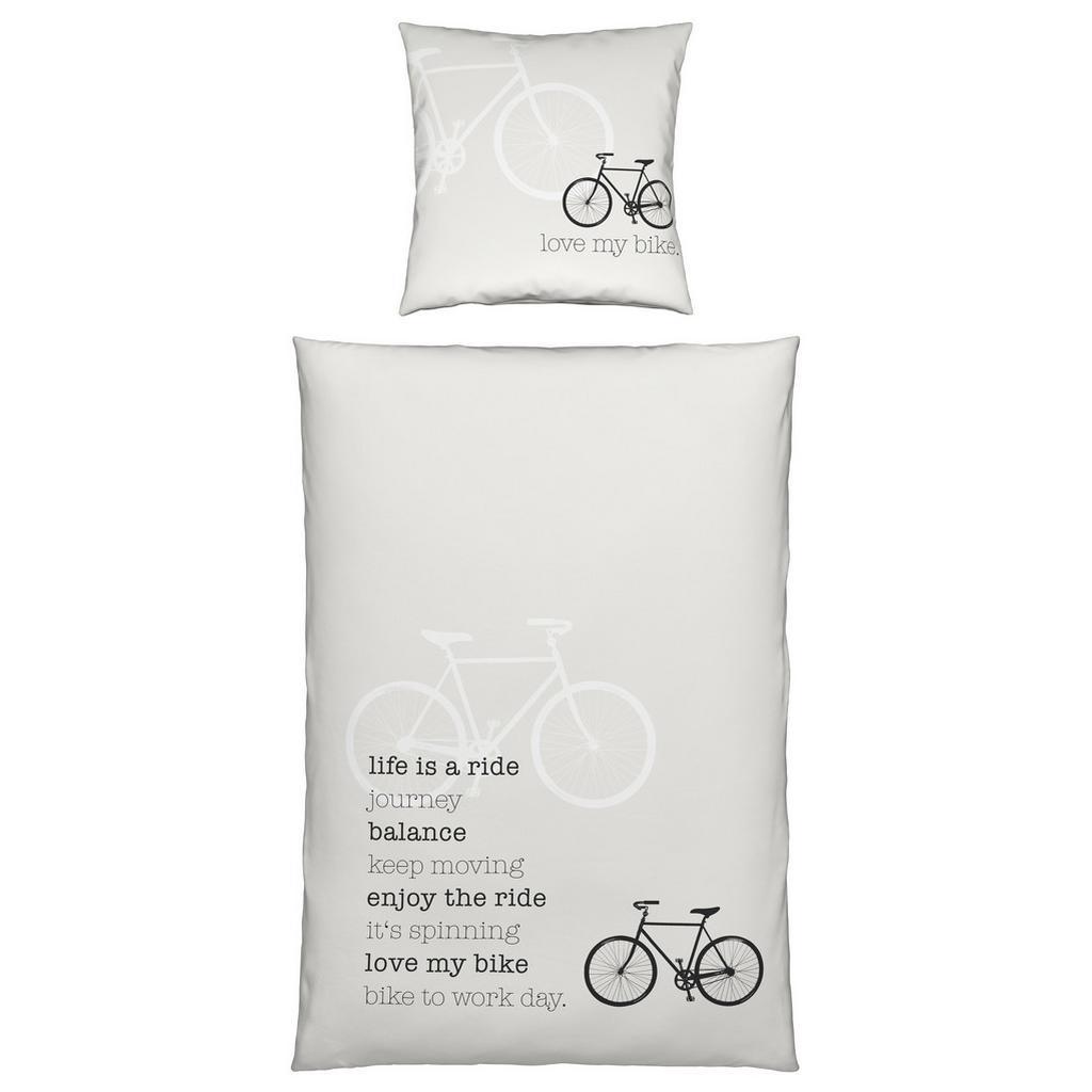 Bettwäsche Ride in Weiß ca. 135x200cm
