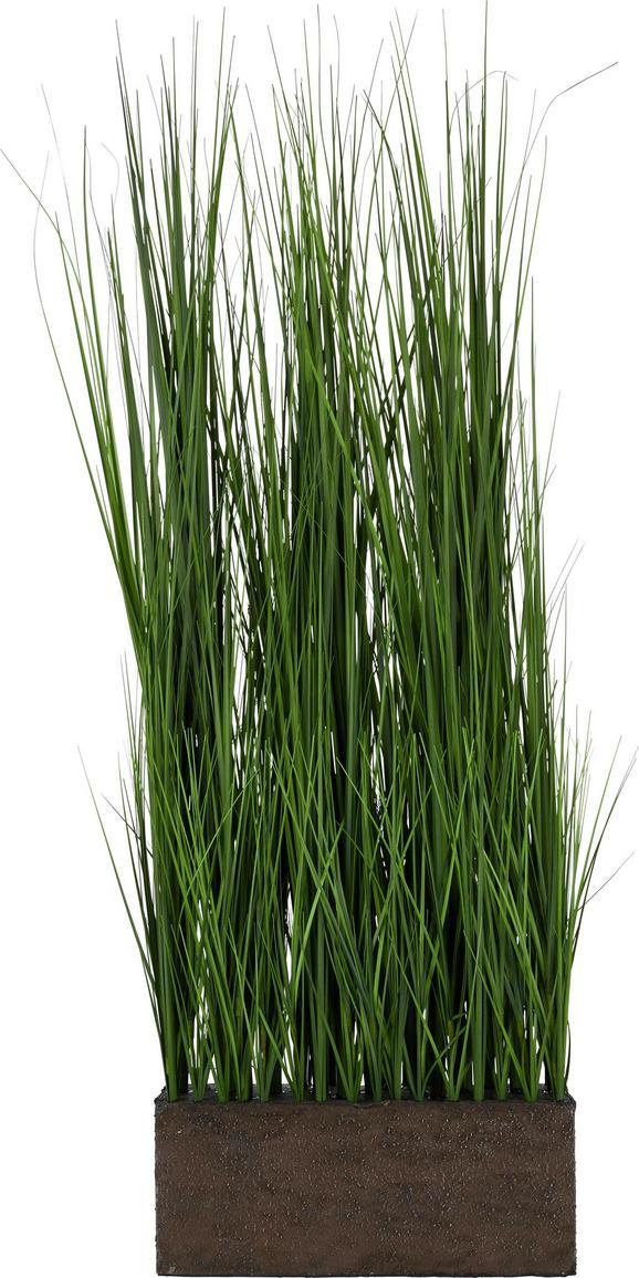 Kunstpflanze Lennard Grün - Grün, Kunststoff (85cm)