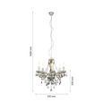 Viseča Svetilka Isabella - krom/prozorna, Romantika, kovina/umetna masa (149cm) - Mömax modern living