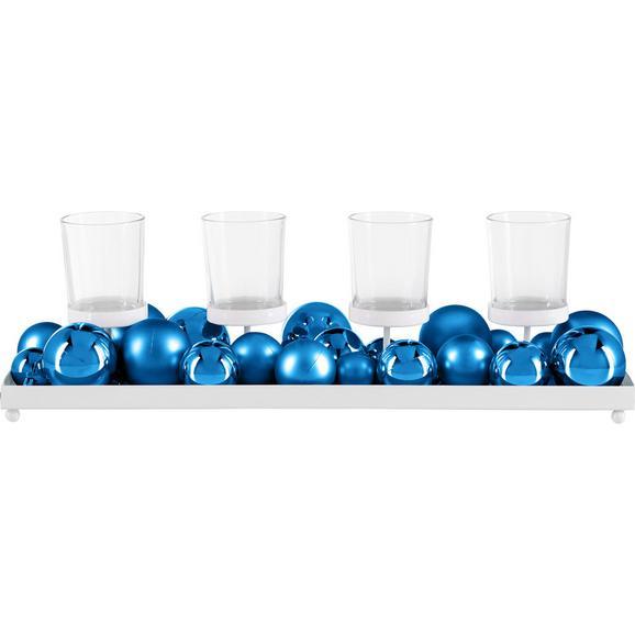 Stojalo Za Čajno Lučko Jan - modra/bela, kovina/umetna masa (40/13,5/6cm) - Mömax modern living