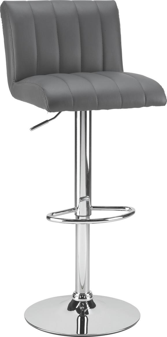 Tresenstuhl in Grau - Grau, MODERN, Metall (42cm) - Mömax modern living