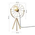Tischleuchte Nevio max. 60 Watt - Goldfarben, LIFESTYLE, Metall (28/48cm) - Modern Living