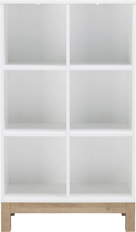Regal in Weiß/Eichefarben - Eichefarben/Weiß, MODERN, Holzwerkstoff (74/126/36cm) - MÖMAX modern living