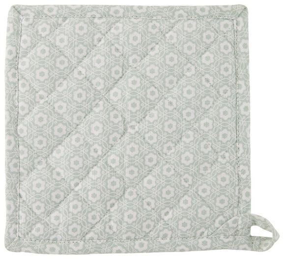 Topflappen Ameline Hellgrün - Hellgrün, ROMANTIK / LANDHAUS, Textil (20/20cm) - ZANDIARA