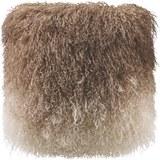Kissen in Braun 'Shaggy'  ca. 40x40cm - Braun, LIFESTYLE, Textil (40/40cm) - Bessagi Home